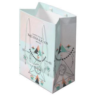 Tribal Colorful Geometric Totem Design Medium Gift Bag
