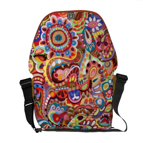 Tribal Colourful Abstract Messenger Bag