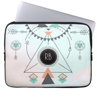 Tribal Colourful Geometric Totem Design Computer Sleeve