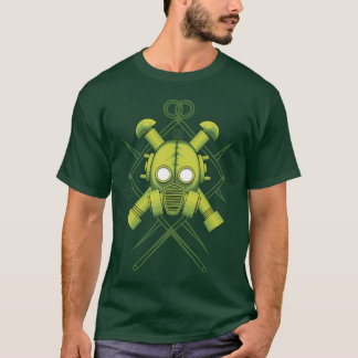 Tribal combat green gasmask T-Shirt