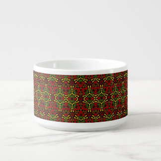 Tribal contemporary abstract chilli bowl chili bowl