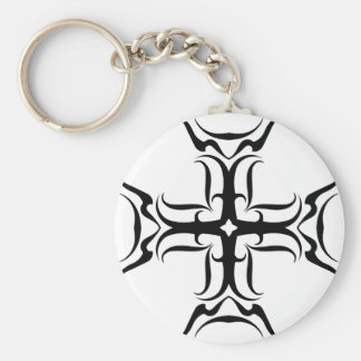 Tribal Cross-country race Basic Round Button Keychain