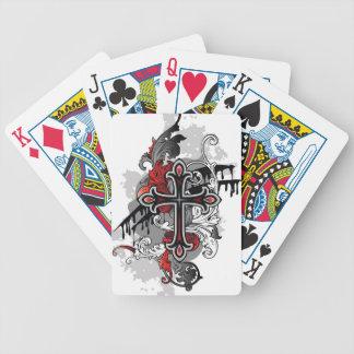 Tribal cross-country race poker deck
