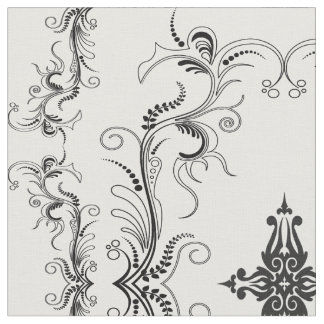 Tribal Cross Gothic Damask Fabric by The Yard