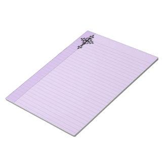 Tribal Cross Pastel Goth Legal Notepad