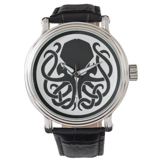 Tribal Cthulhu Black Vintage Leather Watches