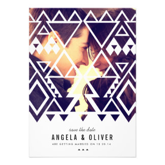Tribal Cutout Save the Date Cards
