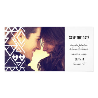 Tribal Cutout Save the Date Photo Card Template