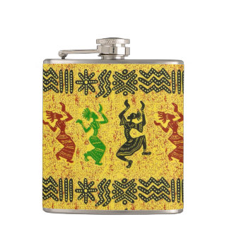 Tribal Dance Hip Flask