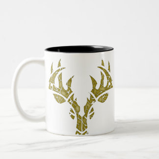 Tribal Deer crackle camo mug