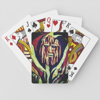 Tribal design - funny and grumpy playing cards