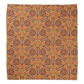 Tribal design in earthy colors bandana