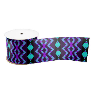 Tribal design satin ribbon