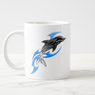 Tribal Dolphin Jumbo Mug