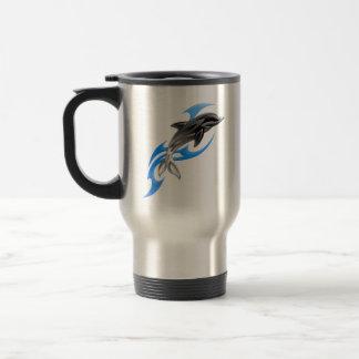 Tribal Dolphin Travel Mug