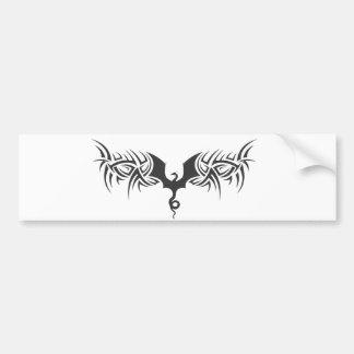 tribal dragon bumper sticker