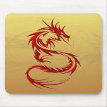 Tribal Dragon Mouse Pads