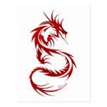 Tribal Dragon Post Card