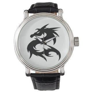 Tribal Dragon Silhouette Watch