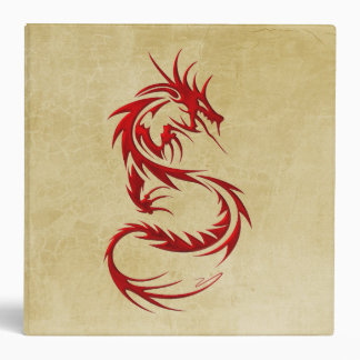 Tribal Dragon Vinyl Binder
