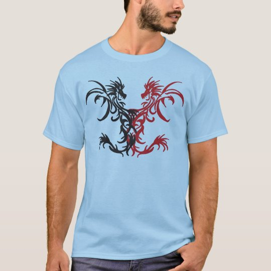 Tribal Dragons Black/Red T-Shirt