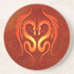 Tribal Dragons, red Coasters