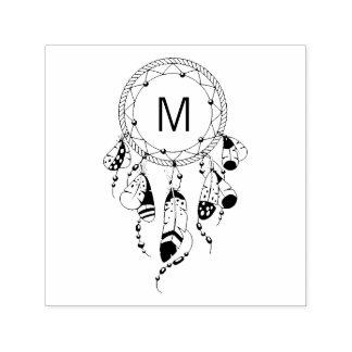Tribal Dreamcatcher Boho Monogram Self-inking Stamp