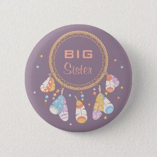 Tribal Dreamcatcher Boho New Baby Big Sister 2 Inch Round Button