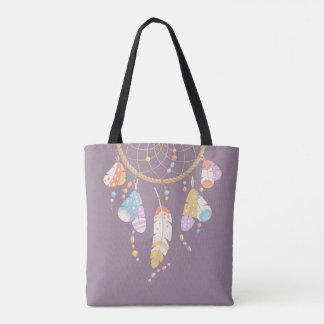 Tribal Dreamcatcher Boho Purple Quote Tote Bag
