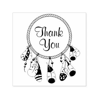 Tribal Dreamcatcher Boho Thank You Self-inking Stamp