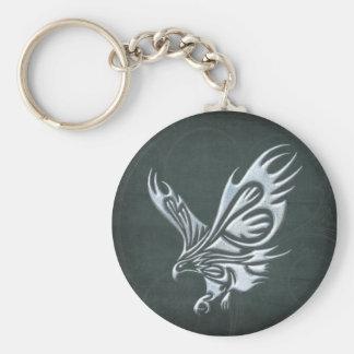 Tribal Eagle Basic Round Button Keychain