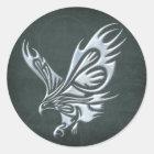 Tribal Eagle Classic Round Sticker