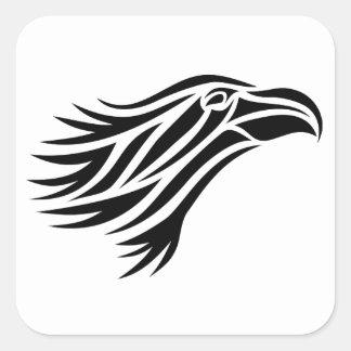 Tribal Eagle Head Sticker