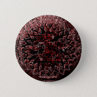 Tribal Effect Red 2 Inch Round Button