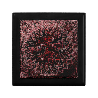 Tribal Effect Red Gift Box
