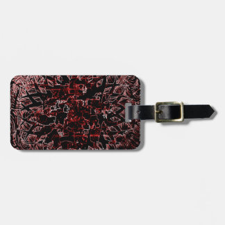 Tribal Effect Red Luggage Tag