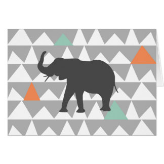 Tribal Elephant Aztec Andes Pattern Card