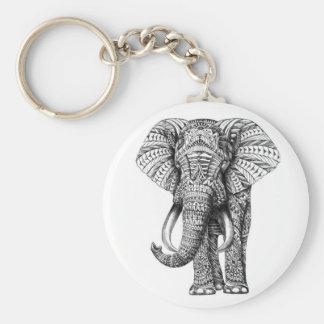 tribal elephant keychain