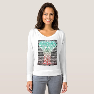 Tribal Elephant Print T-shirt