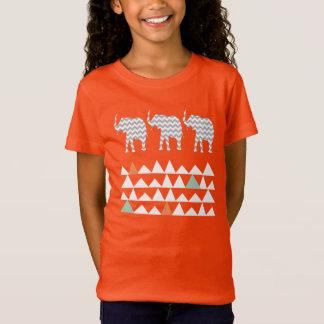 Tribal Elephants Chevrons Aztec Andes Pattern T-Shirt