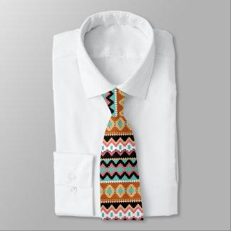 Tribal Ethnic Pattern Neck Tie