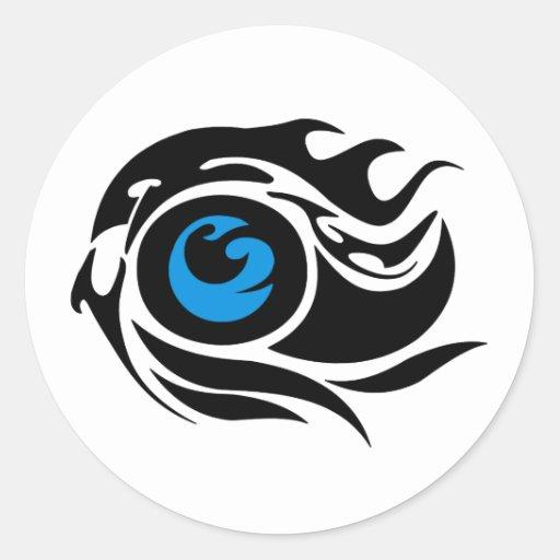 Tribal evil eye round sticker