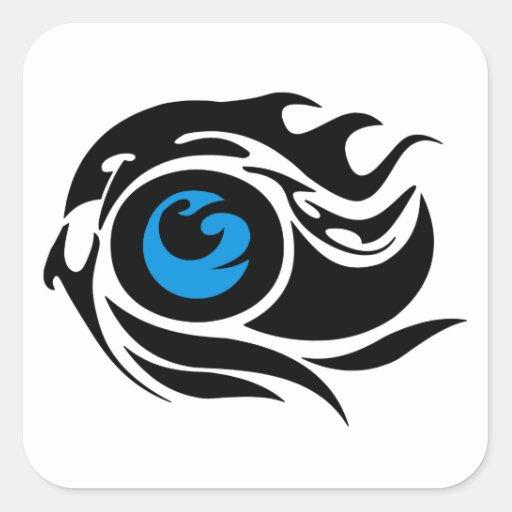 Tribal evil eye stickers