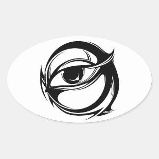 Tribal eye oval sticker