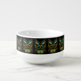 TRIBAL FACE ART PRINT FOR SOUP MUG
