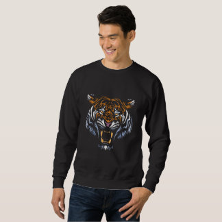 Tribal Face Tiger Sweatshirt