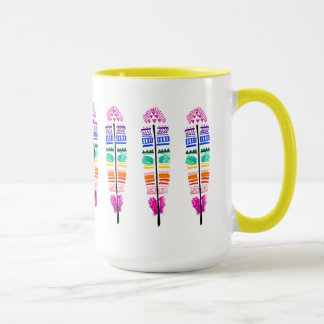 Tribal Feather Mug.. Mug