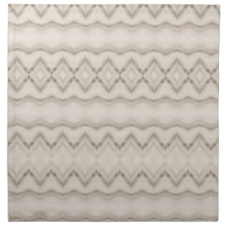 Tribal Feather Zig Zag Pattern Design Napkin
