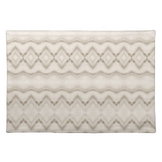 Tribal Feather Zig Zag Pattern Design Placemat