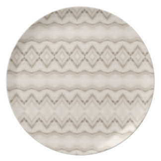 Tribal Feather Zig Zag Pattern Design Plate
